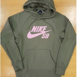 NikeSB SWEAT HOOD ICON Mid Olive Pink