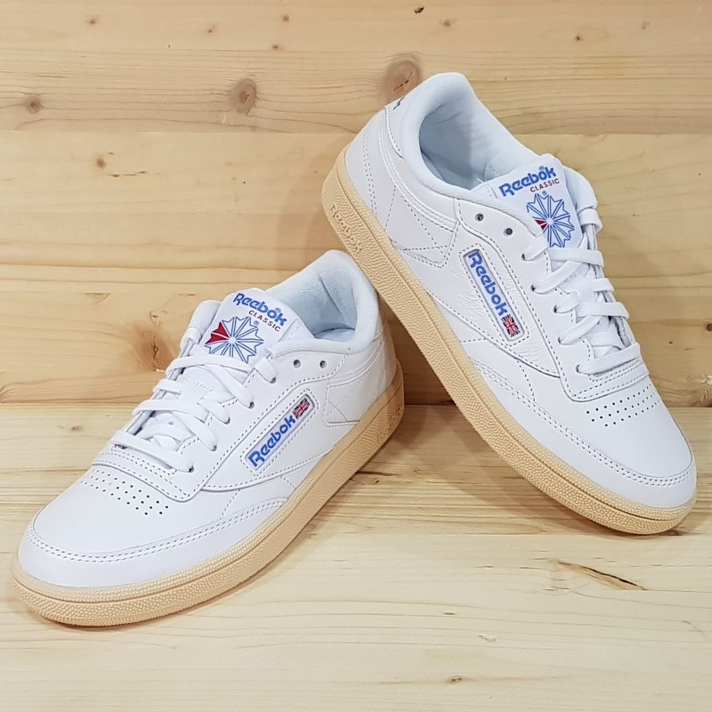 REEBOK CLUB C 85 WHITE ATHLETIC BLUE Taille 37 Couleur ATHLETIC BLUE