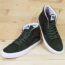 VANS SK8-HI (suede) FOREST NIGHT  WHITE