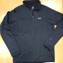 PATAGONIA POLAIRE 1/4 ZIP R1 BLACK