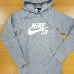 NikeSB SWEAT HOOD ICON DARK GreyHeather
