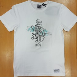 PICTURE TEE OCTOPUS WHITE