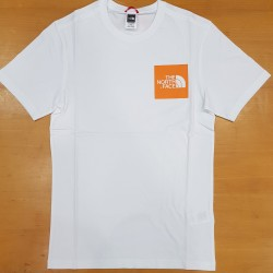 TNF SS TEE FINE WHITE FLAME ORANGE
