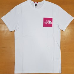 TNF SS TEE FINE WHITE MR.PINK