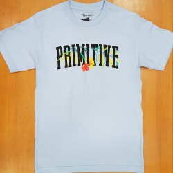 PRIMITIVE T-SHIRT PALMS POWDER BLUE