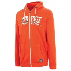 PICTURE ORGANIC SWEAT ZIP BASEMENT BURNT ORANGE COTON BIO