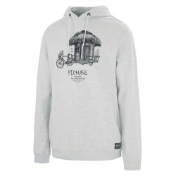 PICTURE ORGANIC SWEAT HOODIE WINTON LIGHT GREY COTON BIO