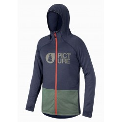 PICTURE ORGANIC TECH SWEAT ZIP SHARI DARK BLUE