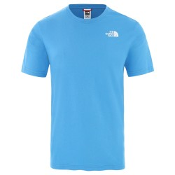 The North Face T-shirt RED BOX CLEAR LAKE BLUE