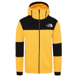 The North Face Sweat à capuche zippé HIMALAYAN YELLOW BLACK
