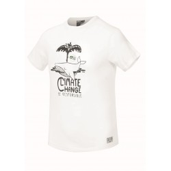 PICTURE T-SHIRT WHALE WHITE CLIMATE CHANGE
