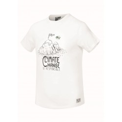 PICTURE T-SHIRT SAGARTOWN WHITE CLIMATE CHANGE