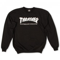 THRASHER SWEAT CREW SKATE MAG BLACK