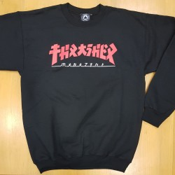 THRASHER SWEAT CREW GODZILLA BLACK