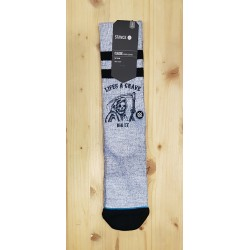STANCE CHAUSSETTES LIFE IS A GRAVE GREY