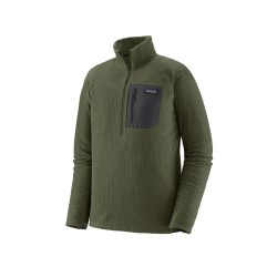 PATAGONIA POLAIRE R1 air1/4 ZIP Industrial Green