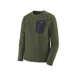 PATAGONIA POLAIRE R1 AIR CREW INDUSTRIAL GREEN