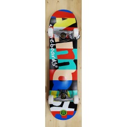 """ALMOST COMPLETE 7.375"""" MID RUGBY SKATEBOARD"""