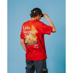 JACKER T-SHIRT LATE SLEEPERS RED - ROAD TO KETAMA - PART1 - CHAPTER 1
