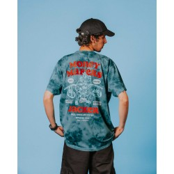 JACKER TSHIRT MONEY MAKERS TEAL TIE DYE COLLECTION ROAD TO KETAMA - PART1 - CHAPTER 1