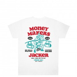JACKER TSHIRT MONEY MAKERS WHITE  COLLECTION ROAD TO KETAMA - PART1 - CHAPTER 2