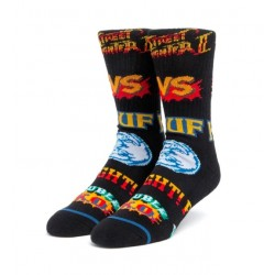 HUF X STREETFIGHTERS CHAUSSETTES  BLACK