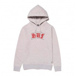 HUF HOODY DISCORDIA ATHLETIC HEATHER