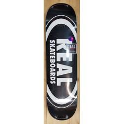 "REAL DECK 8.25"" TEAM CLASSIC OVAL BLACK SKATEBOARD"