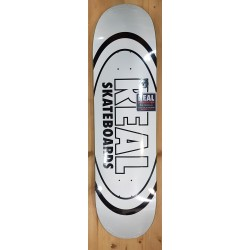"""REAL DECK 8.38"""" TEAM CLASSIC OVAL WHITE"""