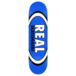 """REAL DECK 8.5"""" TEAM CLASSIC OVAL BLUE"""